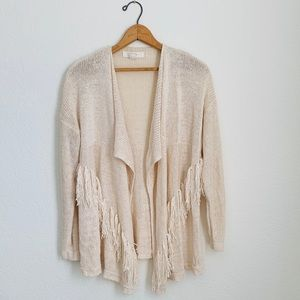 Fringe Cardigan Sweater by Forever 21